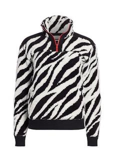 rag & bone Zebra Print Half-Zip Pullover