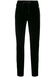 Rag & Bone zipped velvet track pants