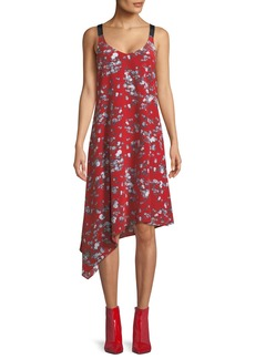 Rag & Bone Zoe V-Neck Sleeveless Floral-Print Silk Dress