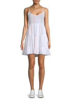 Rails Amber Striped Linen-Blend Peasant Dress