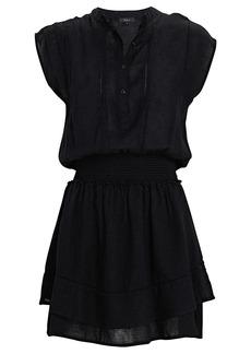 Rails Angelina Ruffled Linen-Blend Mini Dress
