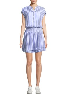 Rails Angelina Striped Button-Front Short Dress