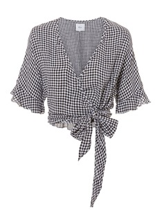 Rails Athena Gingham Wrap Top