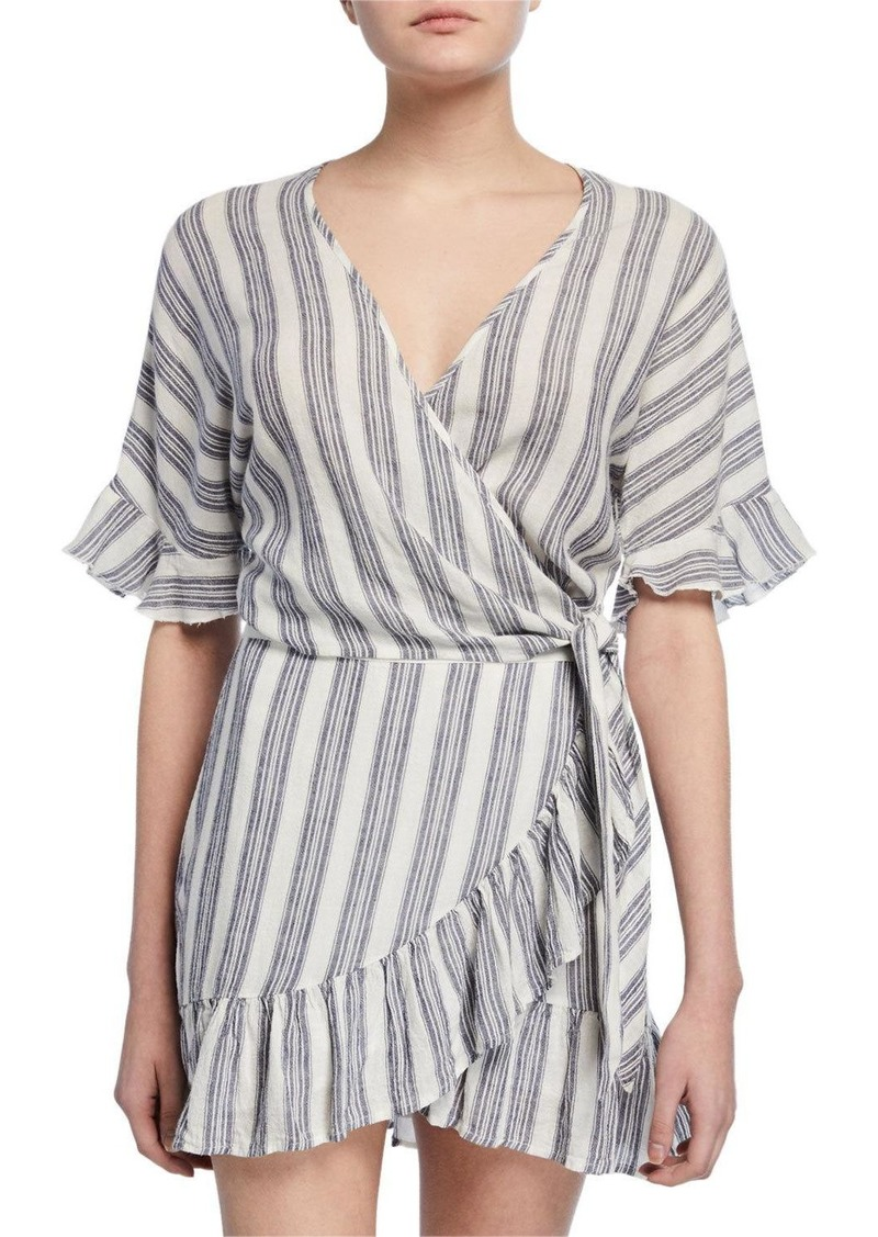 Rails Athena Striped Wrap Top