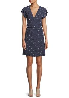 Rails Brenna Polka-Dot Short-Sleeve Wrap Dress