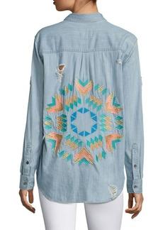 Rails Brett Cotton Starburst Embroidery Shirt