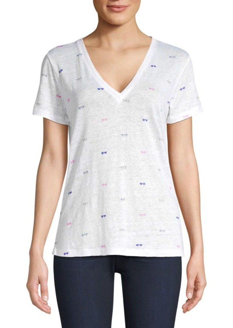 Rails Cara Printed V-Neck Tee