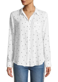 Rails Charli Cactus Button-Down Linen-Blend Shirt