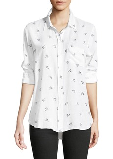 Rails Charli Palm Tree Printed Shirt
