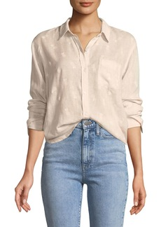 Rails Charli Pineapples Linen-Blend Button-Front Shirt