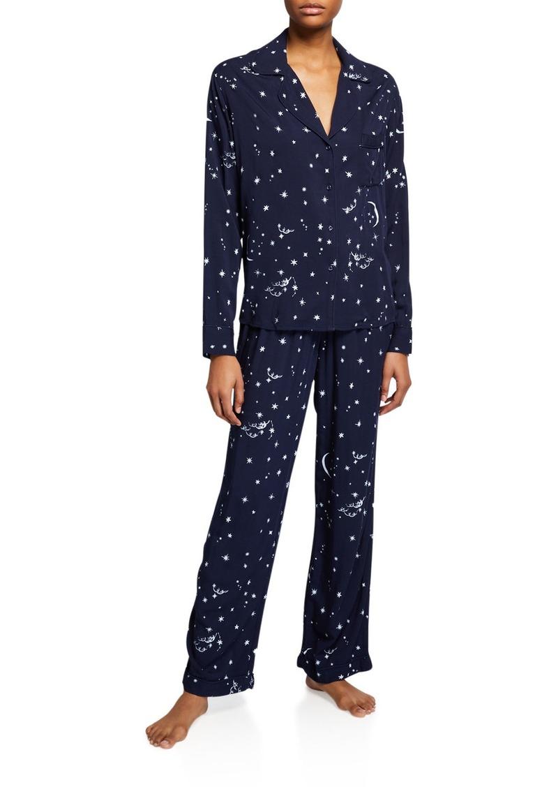 Rails Clara Star-Print Classic Pajama Set