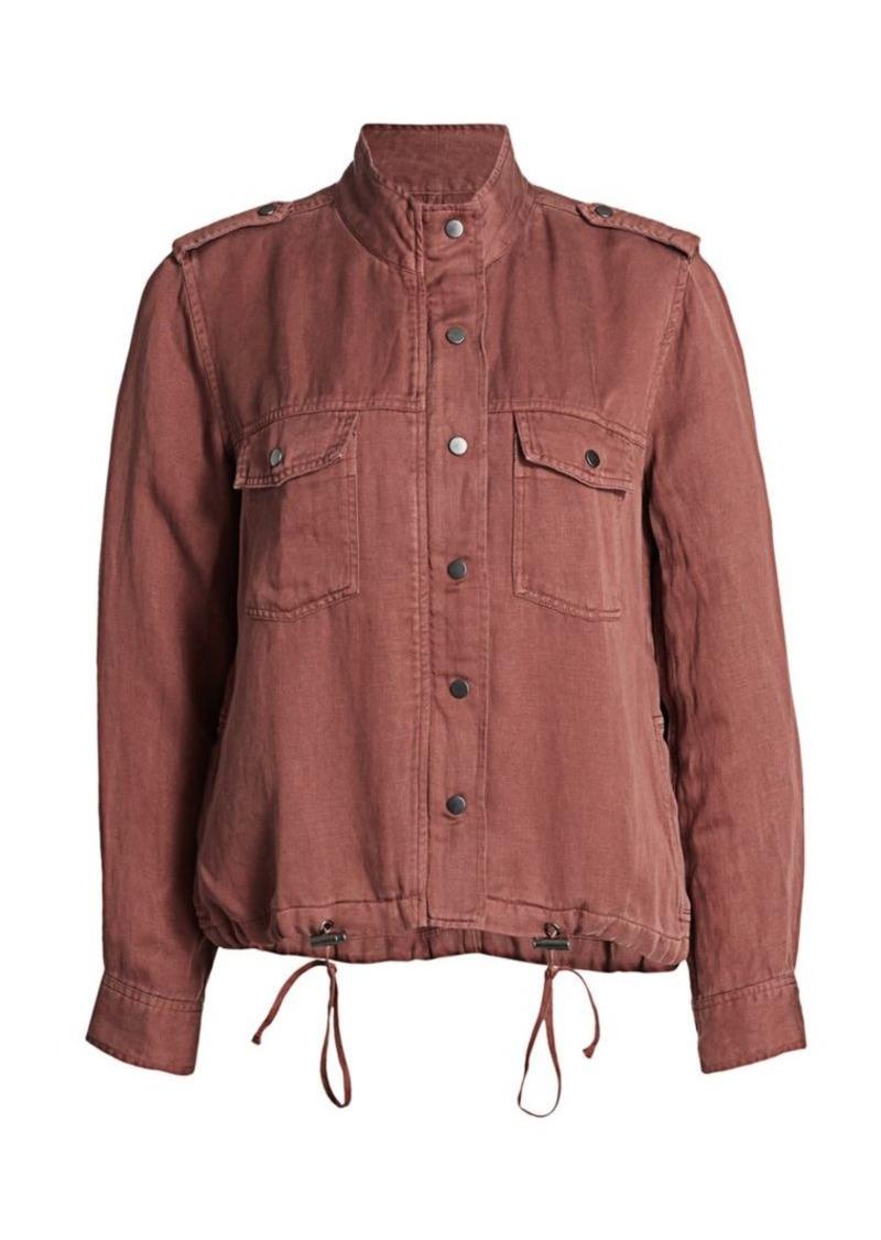 Rails Collins Drawstring Linen-Blend Jacket