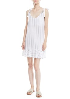 Rails Diana Striped Flounce Mini Dress