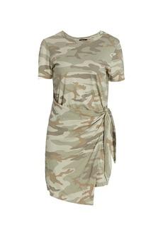 Rails Edie Camo Tie-Waist T-Shirt Dress
