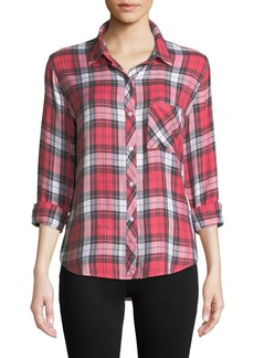 Rails Hunter Plaid Long-Sleeve Button-Front Top