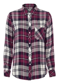 Rails Hunter Plaid Lychee Top