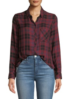 Rails Hunter Plaid Metallic Button-Down Top