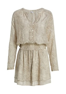 Rails Jasmine Python Blouson Dress