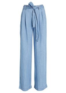 Rails Jess Wide-Leg Chambray Pants