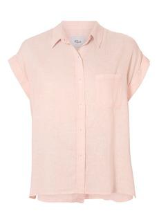 Rails Jules Button Back Blush Shirt