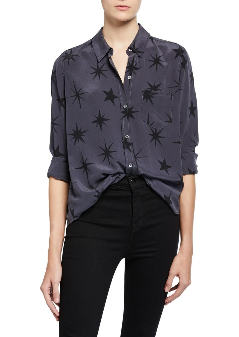 Rails Kate Star-Print Button-Down Top