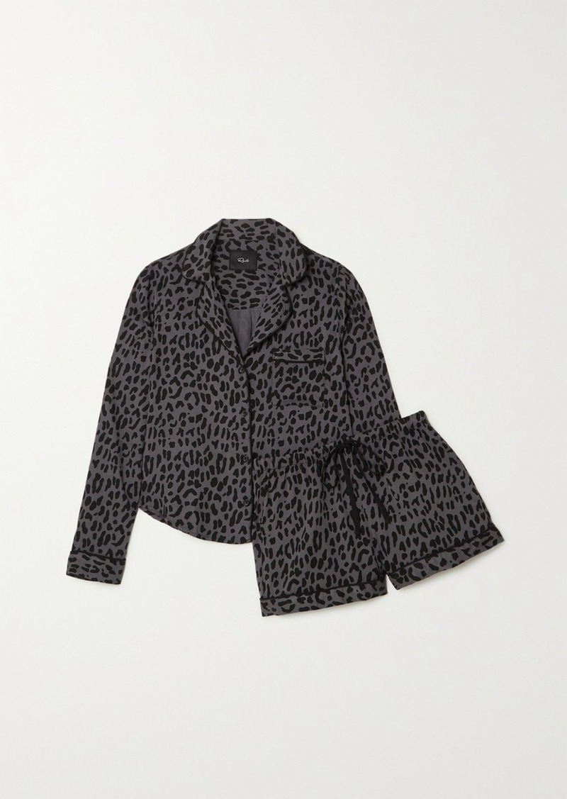 Rails Kellen Leopard-print Voile Pajama Set