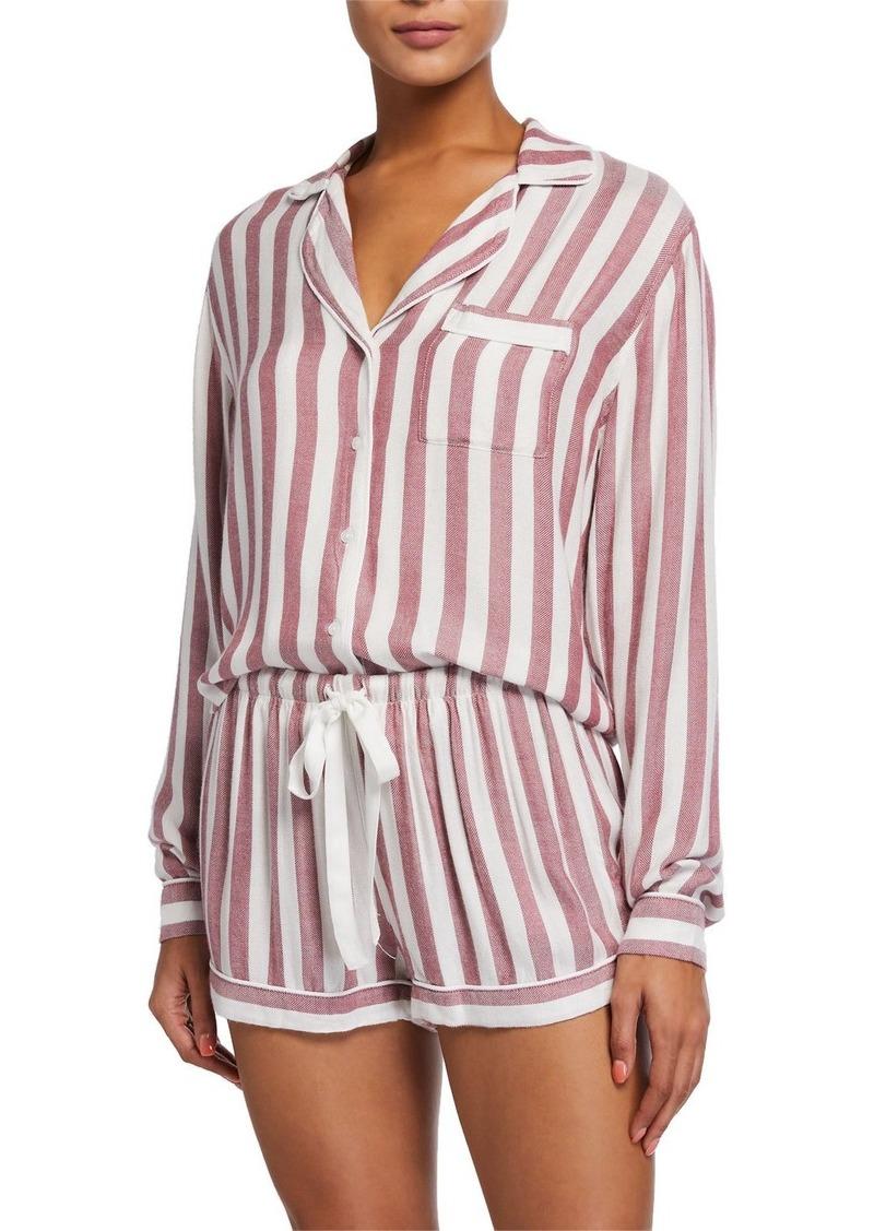 Rails Kellen Striped Long-Sleeve Shortie Pajama Set