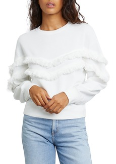 Rails Kinsey Crewneck Sweater with Fringe