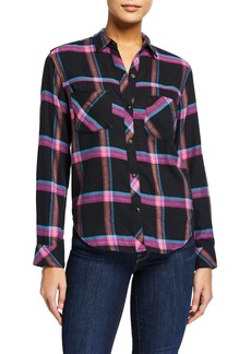 Rails Leo Plaid Snap-Front Top