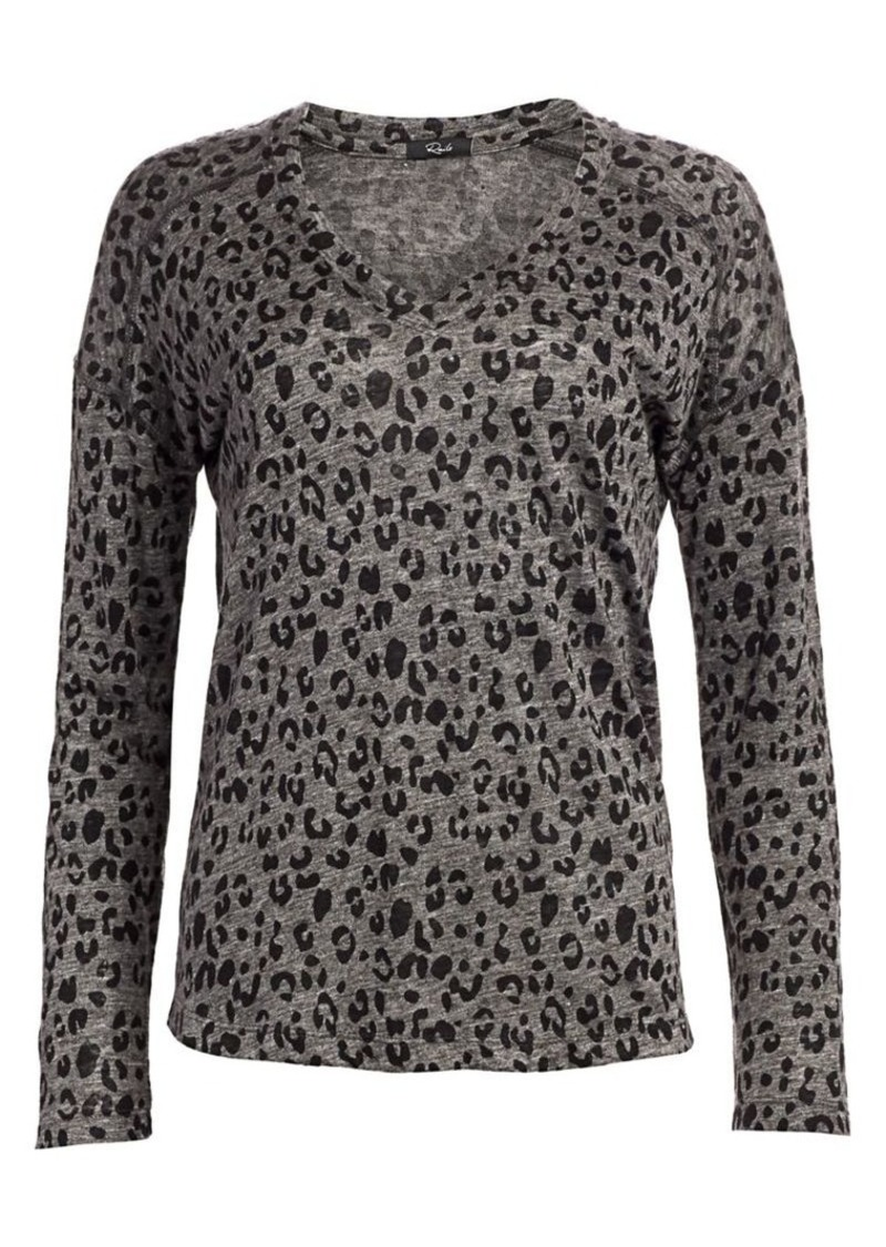 Rails Leopard Long-Sleeve T-Shirt