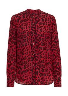 Rails Lillian Leopard Print Blouse