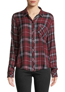 Rails Liza Plaid Button-Front Long-Sleeve Top