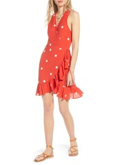 Rails Madison Ruffle Sleeveless Wrap Dress