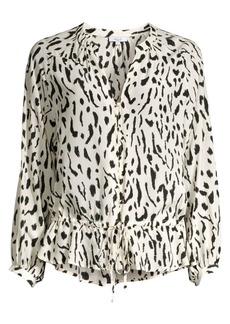 Rails Marti Leopard Print Blouse