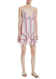 Rails Martina Striped Flounce Mini Dress