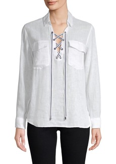 Rails Matea Lace-Up Blouse