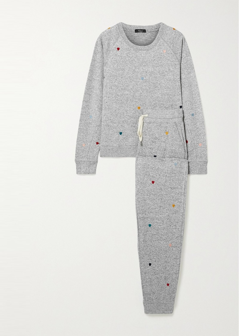 Rails Mika Oakland Embroidered Knitted Pajama Set