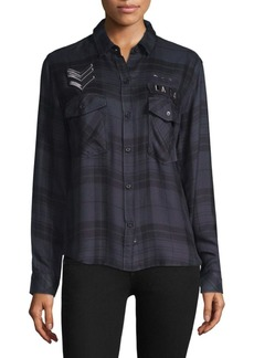 Rails Pepper Plaid Button-Front Shirt