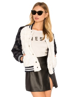 Rails Posey Faux Fur Bomber Jacket