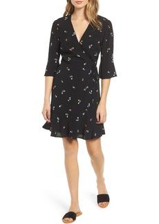 Rails Aimee Ruffle Detail Wrap Dress