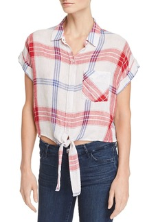 Rails Amelie Tie-Front Plaid Shirt