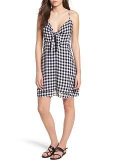 Rails August Gingham Tie Front Dress