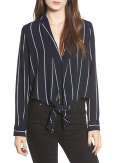 Rails Ava Stripe Tie Front Blouse