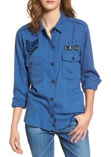 Rails Banks Military Patch Shirt