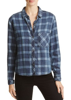 Rails Boxy Plaid Button-Down Shirt