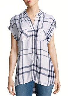 Rails Britt Cap Sleeve Plaid Top
