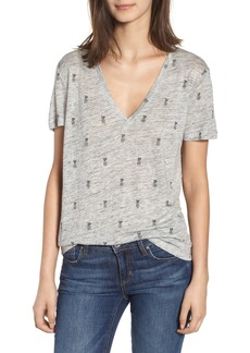 Rails Cara V-Neck Slub Knit Tee