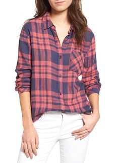Rails Charli Linen Blend Plaid Shirt