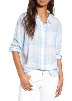 Rails Charli Plaid Linen Blend Shirt