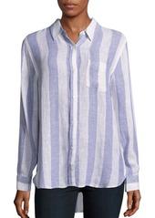 Rails Charlie Stripe Linen-Blend Shirt